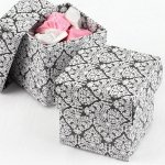 Mix and Match Two Piece Damask Favor Boxes (Set of 25)