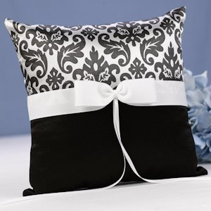 Black Enchanted Evening Ring Bearer Pillow image