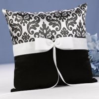Black Enchanted Evening Ring Bearer Pillow