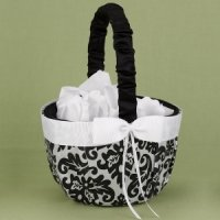 Black Enchanted Evening Flower Girl Basket