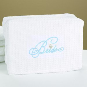 Bridal Party Waffle Weave Spa Bag (4 Designs) image