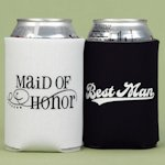 Maid of Honor and Best Man Can Koozies