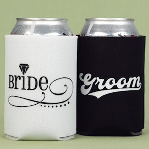 Bride and Groom Can Koozies image