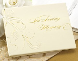 Memory Guest Book with Swirled Accents image
