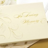 Memory Guest Book with Swirled Accents
