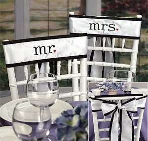 Mr. & Mrs. Chair Sash Set image
