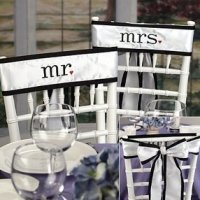 Mr. & Mrs. Chair Sash Set