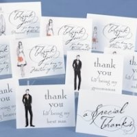 Bridal Party Thank You Cards (Set of 30)