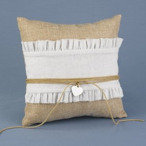 Rustic Romance Ring Bearer Pillow image
