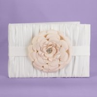 Love Blooms Ivory Wedding Guest Book