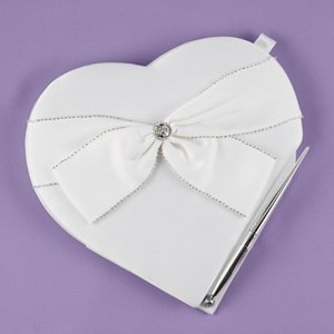 Sparkling Sash Heart Guest Book/Pen Set image
