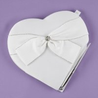 Sparkling Sash Heart Guest Book/Pen Set