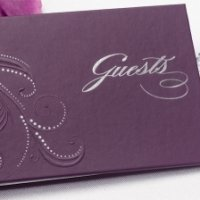 Purple Swirl Dots Guest Book