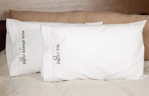 Mr. & Mrs. Right Pillowcase Set image