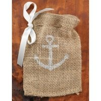 Anchor Burlap Favor Bags (Set of 25)