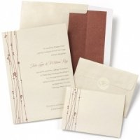 Red Vines Do It Yourself Wedding Invitation Kit (Set of 50)