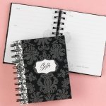 Damask Bridal Shower Gift Record Book