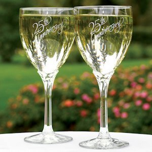 25th Anniversary Wine Glasses image