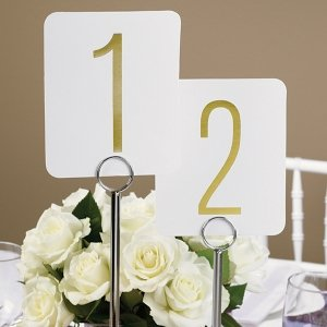 Gold Foil Table Number Set image