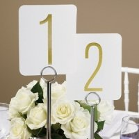 Gold Foil Table Number Set
