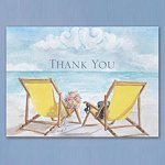 Seaside Beach Wedding Thank You Cards (50 Pack)
