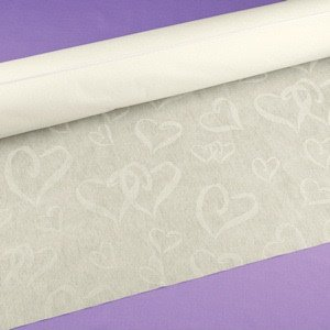 Linked Heart Wedding Aisle Runner (Ivory or White) image