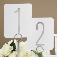 Silver Foil Table Number Set