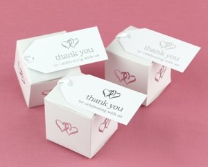 Linked Hearts Wedding Favor Thank You Tags (Set of 25) image