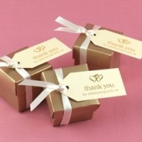 Ivory Linked Hearts Favor Tags (Set of 25)