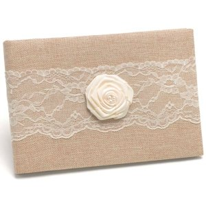Rustic Country Burlap Guest Book image