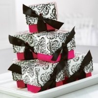 Fuchsia Filigree Favor Boxes (Set of 25)