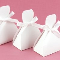 White Wedding Dress Favor Boxes (Set of 25)