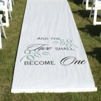 And The Two Shall Become One Aisle Runner