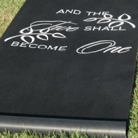 Two Become One Black Wedding Aisle Runner