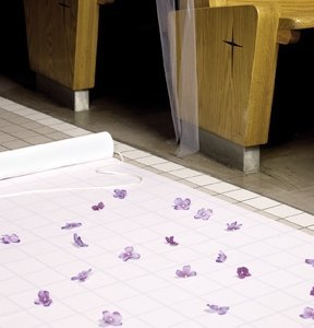 White Fabric Aisle Runner image