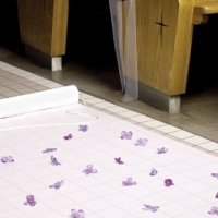 White Fabric Aisle Runner