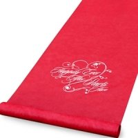 Happily Ever After Red Wedding Aisle Runner