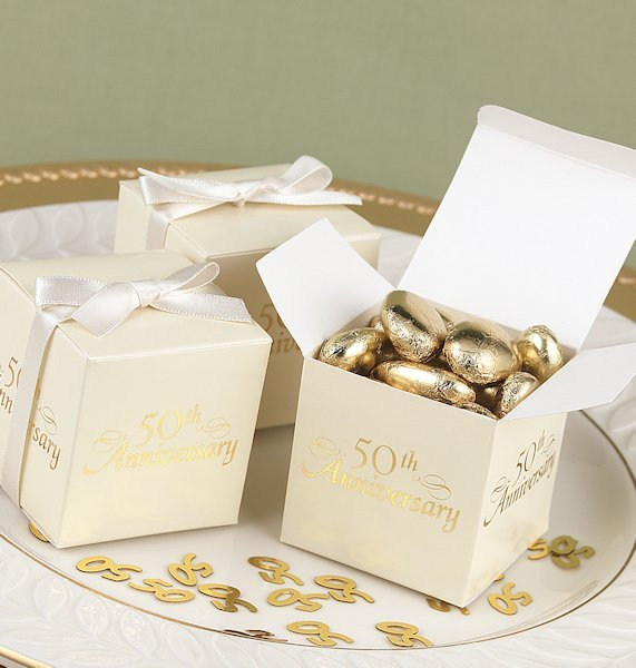 50th Anniversary Party Favor Boxes (Set of 25)