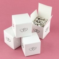 Linked Hearts Favor Boxes for Weddings (Set of 25)
