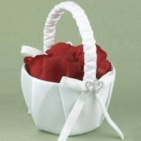 With All My Heart Flower Girls Basket