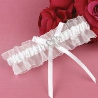 With All My Heart White Garter