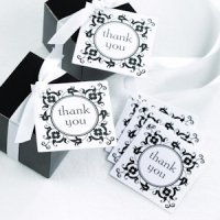 Daisy Flourish Thank You Wedding Tags