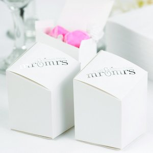 Mr & Mrs Prism Wedding Favor Boxes (Set of 25) image