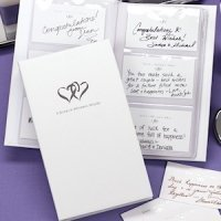 Linked Hearts Well Wisher Guest Book Set