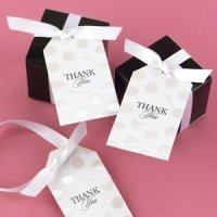 Embossed Dots Thank You Tags for Favors (Set of 25)