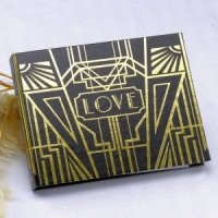 Art Deco Guest Book (Gold or Silver)