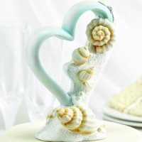Seaside Jewels Beach Themed Wedding Cake Topper