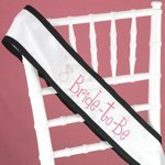 Hot Pink with Black Trim Bride to Be Sash
