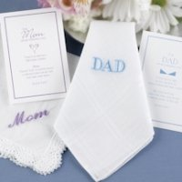 Mother or Father of the Bride Embroidered Gift Hanky