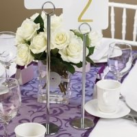 Wedding Reception Table Number Stands (2 Sizes)
